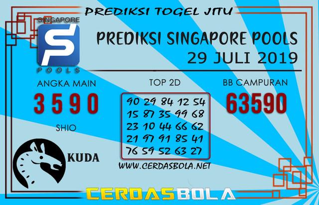 """Prediksi Togel """"SINGAPORE"""" CERDASBOLA 29 JULI 2019"""