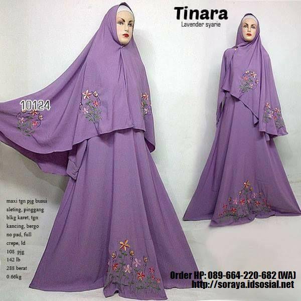 jual baju muslimah tinara lavender syarie