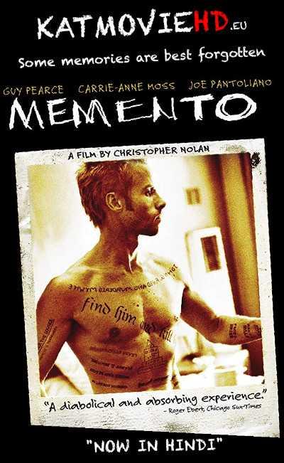 Memento (2000) Dual Audio [ In Hindi + English] | BluRay 480p / 720p / 1080p HD . Hevc 10bit .