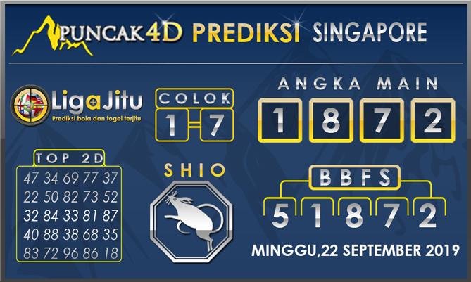 PREDIKSI TOGEL SINGAPORE PUNCAK4D 22 SEPTEMBER 2019