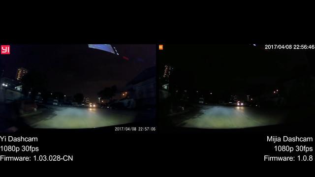 Yi Dashcam VS Xiaomi Mijia Dashcam Night mp4 20171219 172952 375