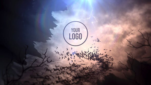 Bats Storm Halloween Logo Reveal 34264368 - Project for After Effects (Videohive)