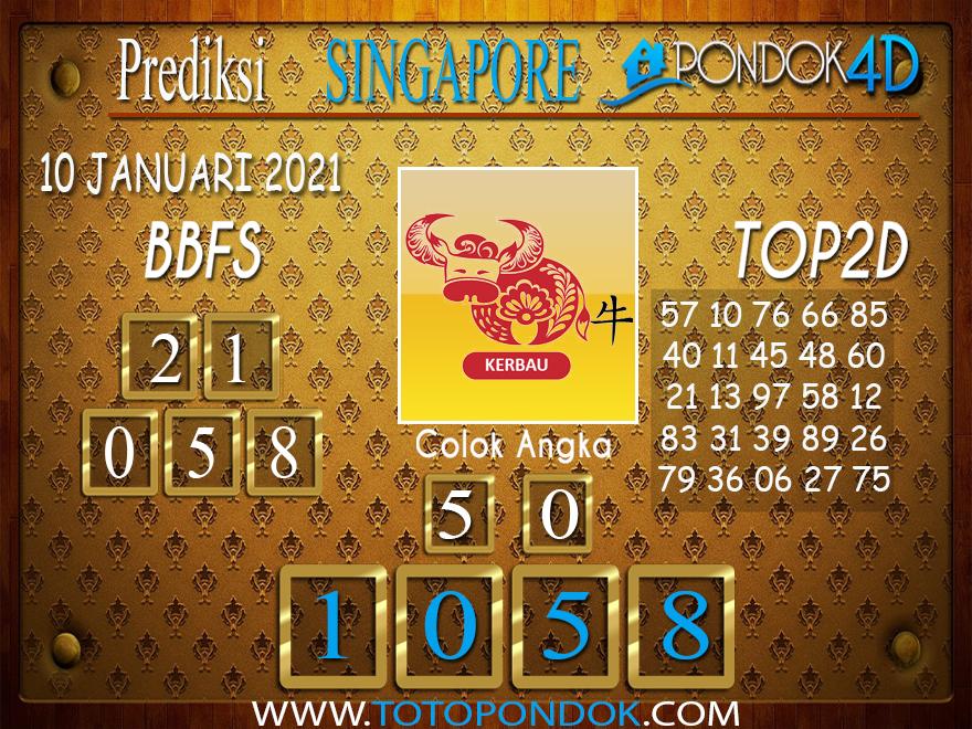 Prediksi Togel SINGAPORE PONDOK4D 10 JANUARI 2021