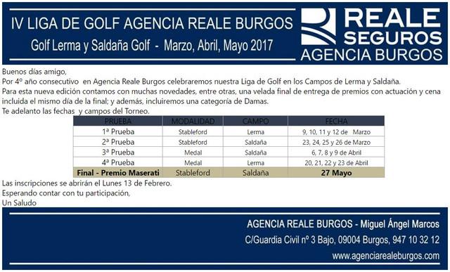 4 Liga de golf Agencia Reale