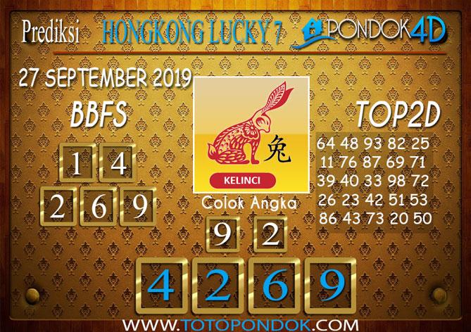 Prediksi Togel HONGKONG LUCKY 7 PONDOK4D 27 SEPTEMBER 2019