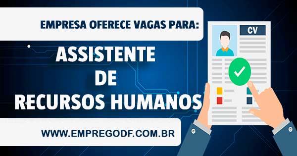 EMPREGO PARA ASSISTENTE DE RECURSOS HUMANOS