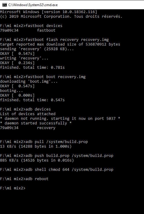 fastboot-adb-buildprop-mimix2
