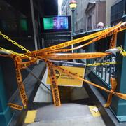 Fulton Street Station during pandemic