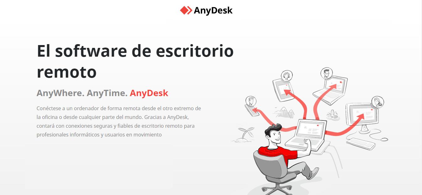 AnyDesk es una de las herramientas similares a TeamViewer