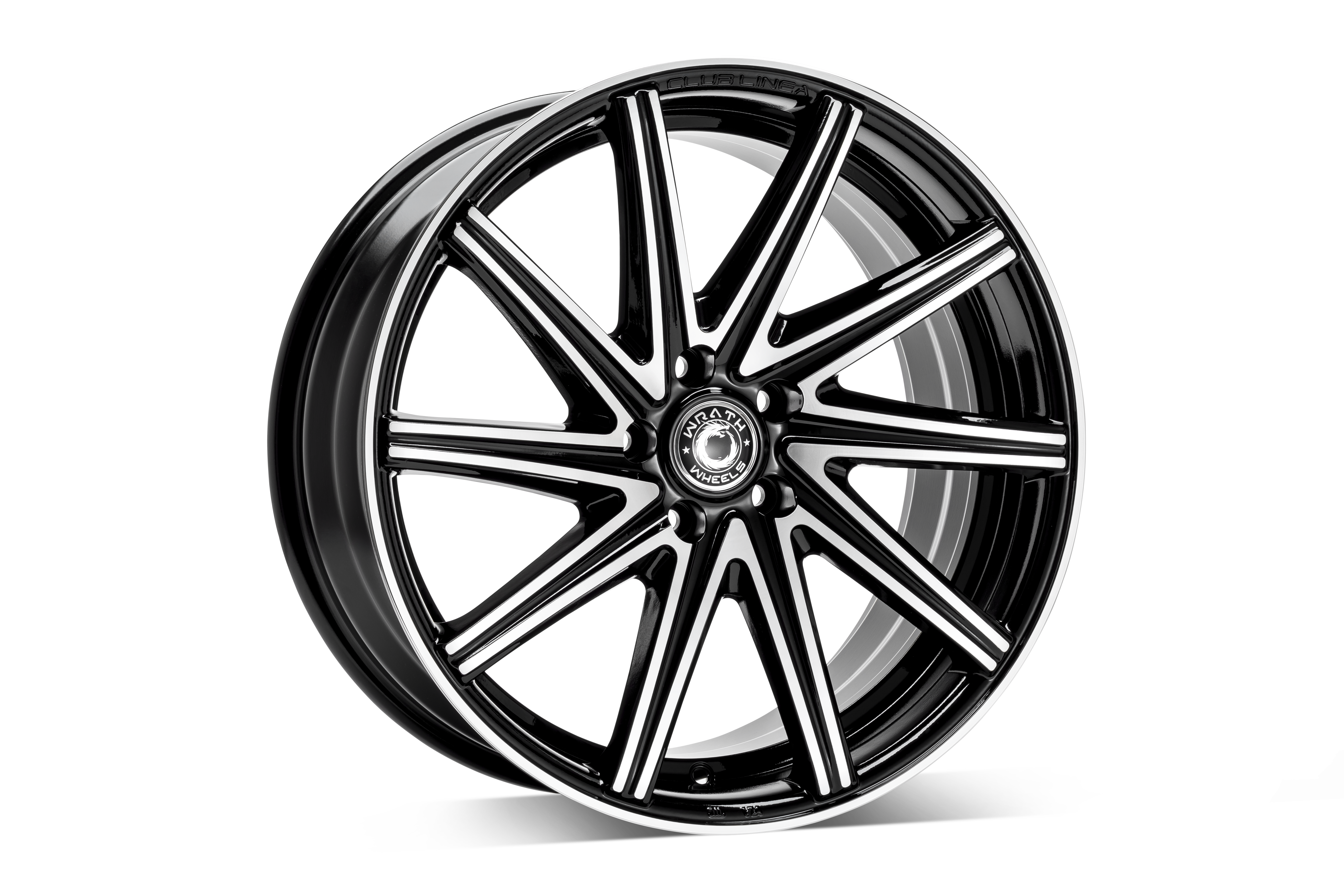 WRATH WHEELS WF2 hliníkové disky 8x19 5x112 ET42 GLOSS BLACK POLISHED FACE