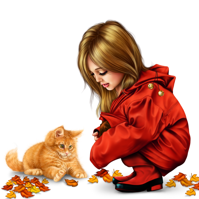little girl in raincoat with a kitty png 305fcc3d30ea5e815a.png