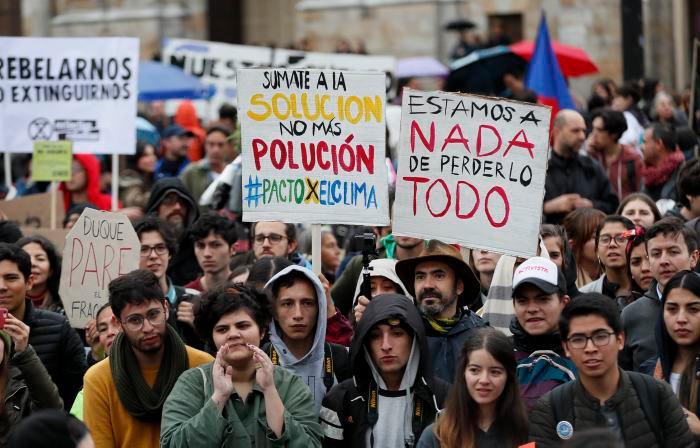 La ciudadanía reclama acción política frente a la emergencia climática