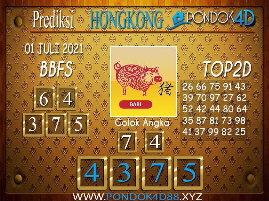 Prediksi Togel HONGKONG PONDOK4D 01 JULI 2021