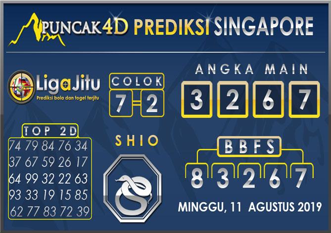 PREDIKSI TOGEL SINGAPORE PUNCAK4D 11 AGUSTUS 2019