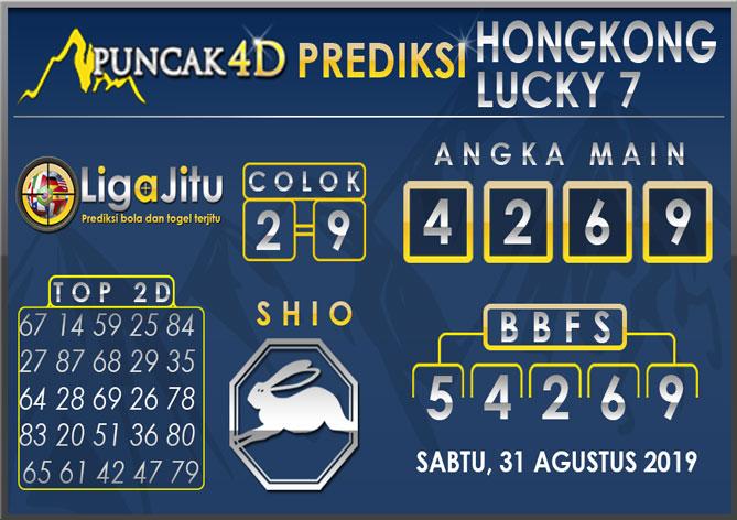 PREDIKSI TOGEL HONGKONG LUCKY7 PUNCAK4D 31 AGUSTUS 2019