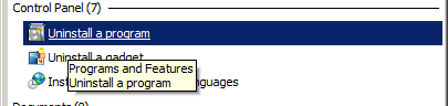 uninstal aplikasi windows