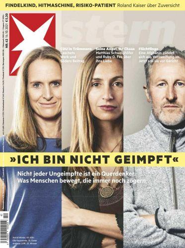 Cover: Der Stern Nachrichtenmagazin No 42 vom 14  Oktober 2021