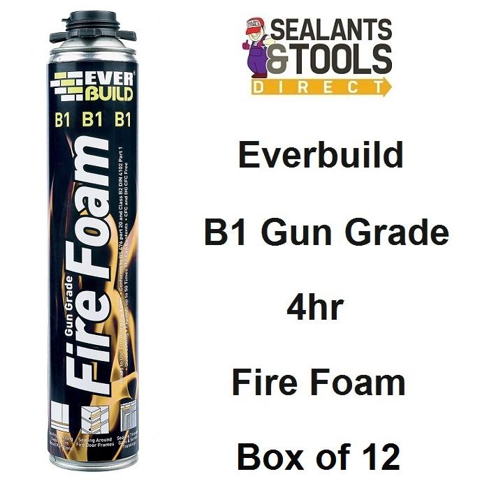 Everbuild B1 Gun Grade Expanding 4hr Fire Foam Box of 12 B1FIREGUN