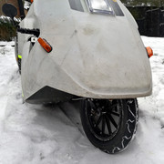 Sinclair C5 in the snow