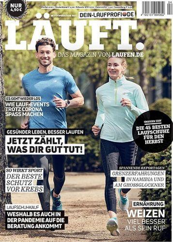 Cover: Läuft  Das Magazin von laufen No 04 Herbst 2021