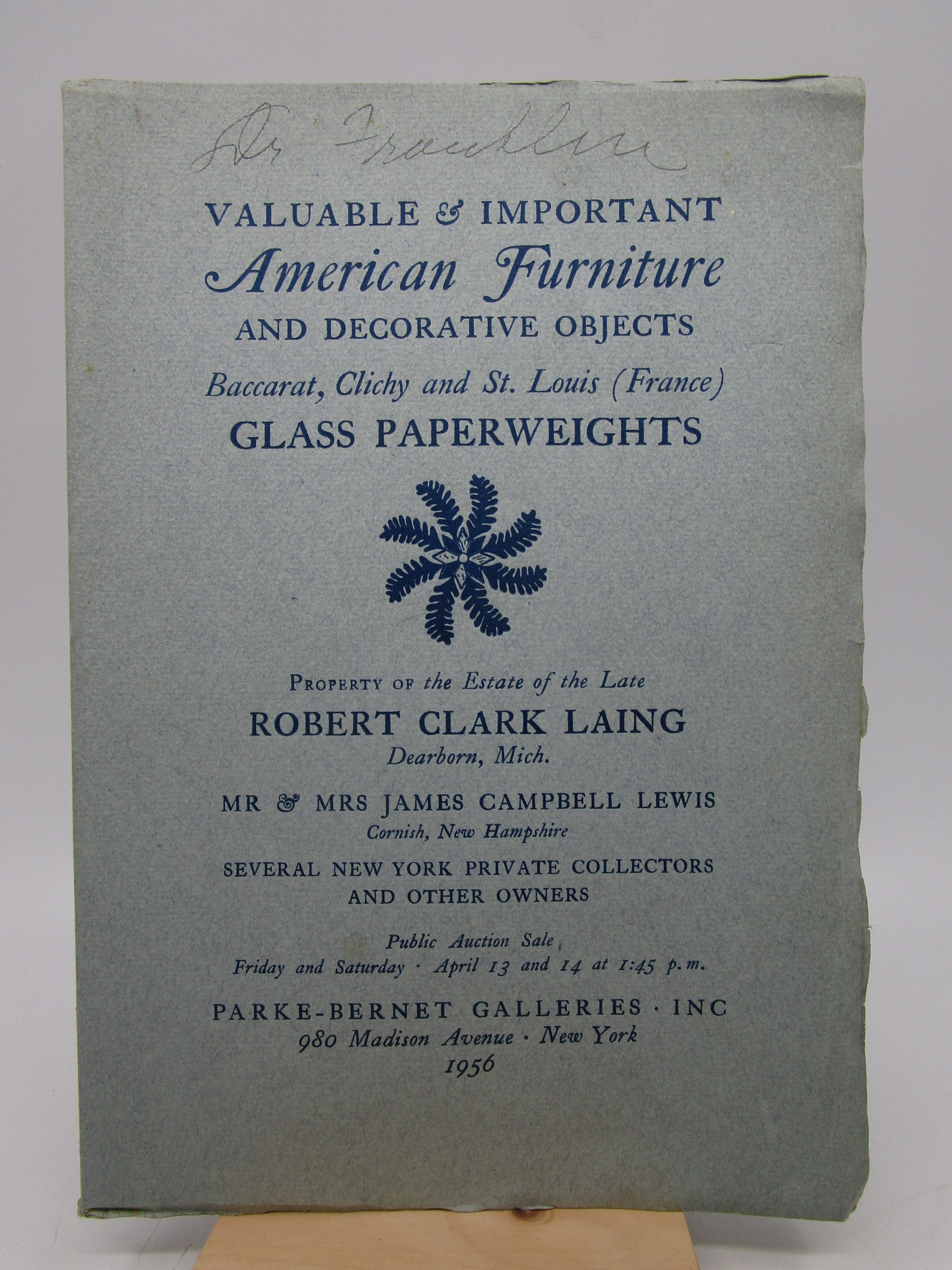 Image for Valuable and Important American Furniture Baccarat, Clichy & St. Louis (France) Glass Paperweights from the Estate of the late Robert Clark Laing