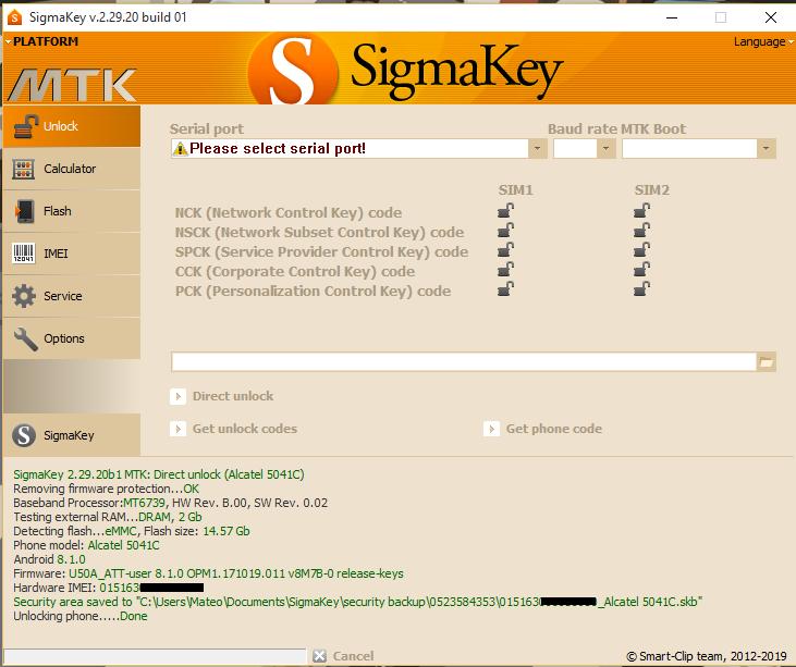 Aporte Unlock Alcatel 5041c At&t By Sigmakey - Clan GSM - Unión de