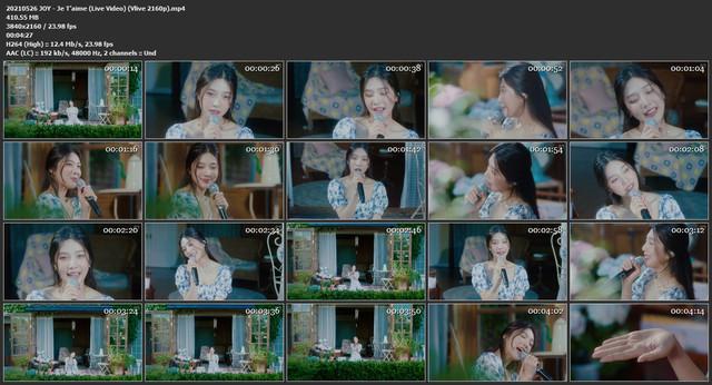 Joy (Red Velvet) – Je T'aime (Live Video) [MP4 2160p /  Vlive / WEB] [2021.05.26]