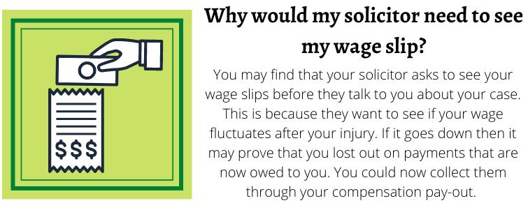 Wage slip help