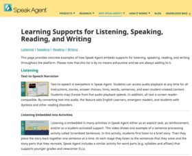 PDF Speak Agent Learning Supports for Listening, Speaking, Reading and Writing