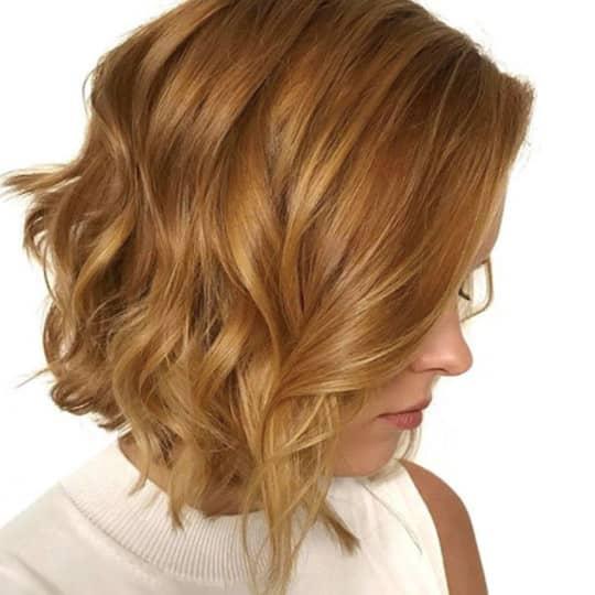 Strawberry Blonde Bob-strawberry-styled-hair