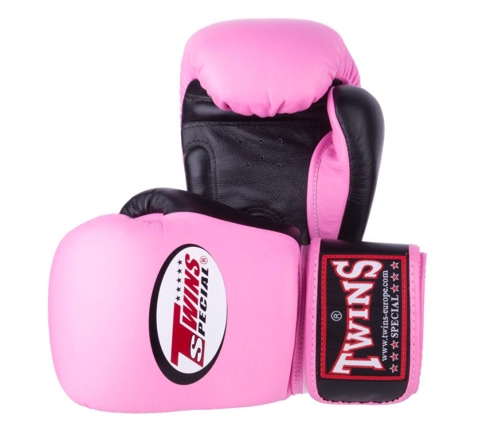 Боксерские перчатки Twins Розовые КОЖА Королевство Таиланд
