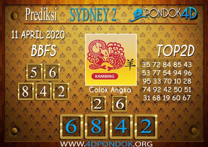 Prediksi Togel SYDNEY 2 PONDOK4D 11 APRIL 2020