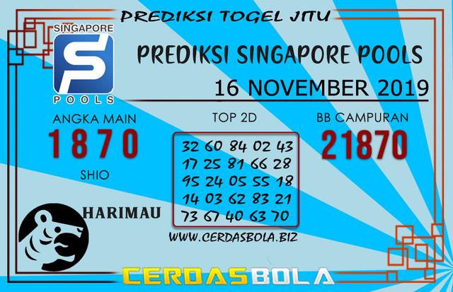 """Prediksi Togel """"SINGAPORE"""" CERDASBOLA 16 NOVEMBER 2019"""