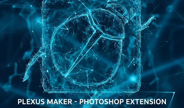 Plexus Maker - Photoshop plugin for creating plexus effects