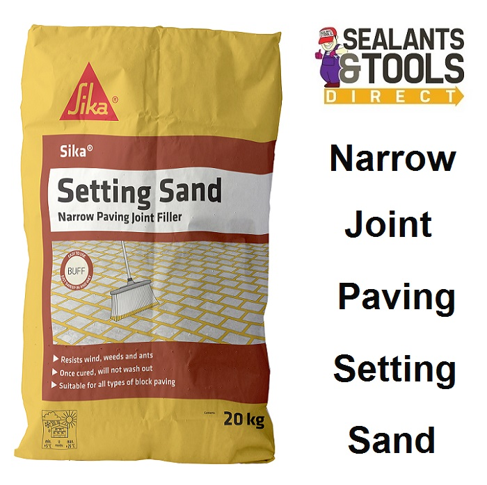Sika Setting Sand Block Paving Narrow Joint Filler 20Kg Buff SKSANDBF20