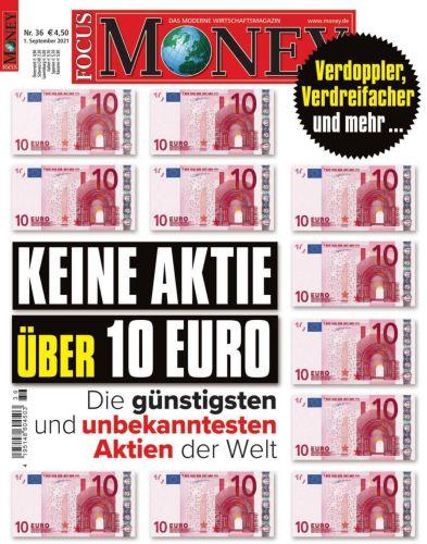 Cover: Focus Money Finanzmagazin No 36 vom 01  September 2021