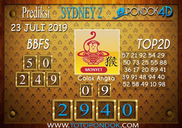 Prediksi Togel SYDNEY 2 PONDOK4D 23 JULI 2019