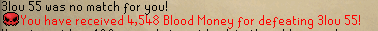 Fixed a bug not giving players blood money upon slaying your opponent's in the wilderness.