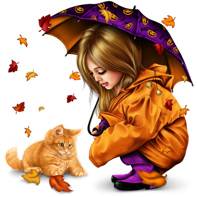 little girl in raincoat with a kitty png 258d7c2f1673f9eea8.png