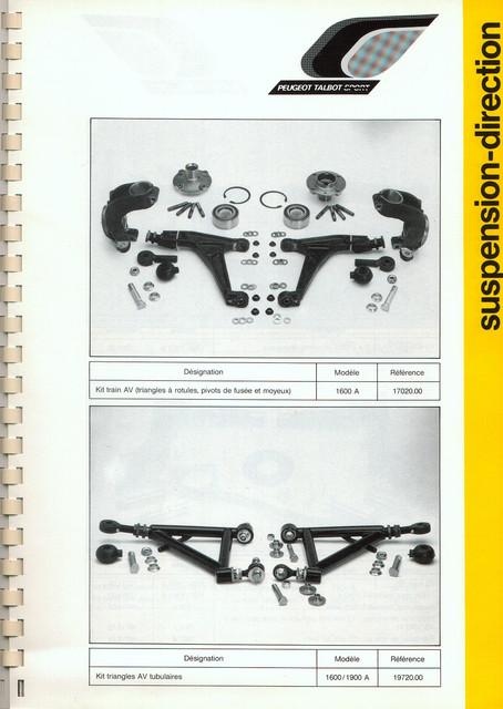 Catalogue PTS pièces compétition - 205 GTI 1600-1900 gr. N/A PTS-Suspension-Direction-4
