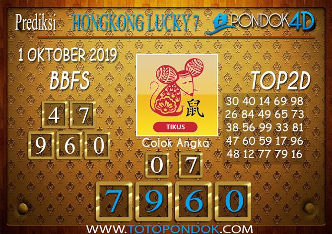 Prediksi Togel HONGKONG LUCKY 7 PONDOK4D 1 OKTOBER 2019