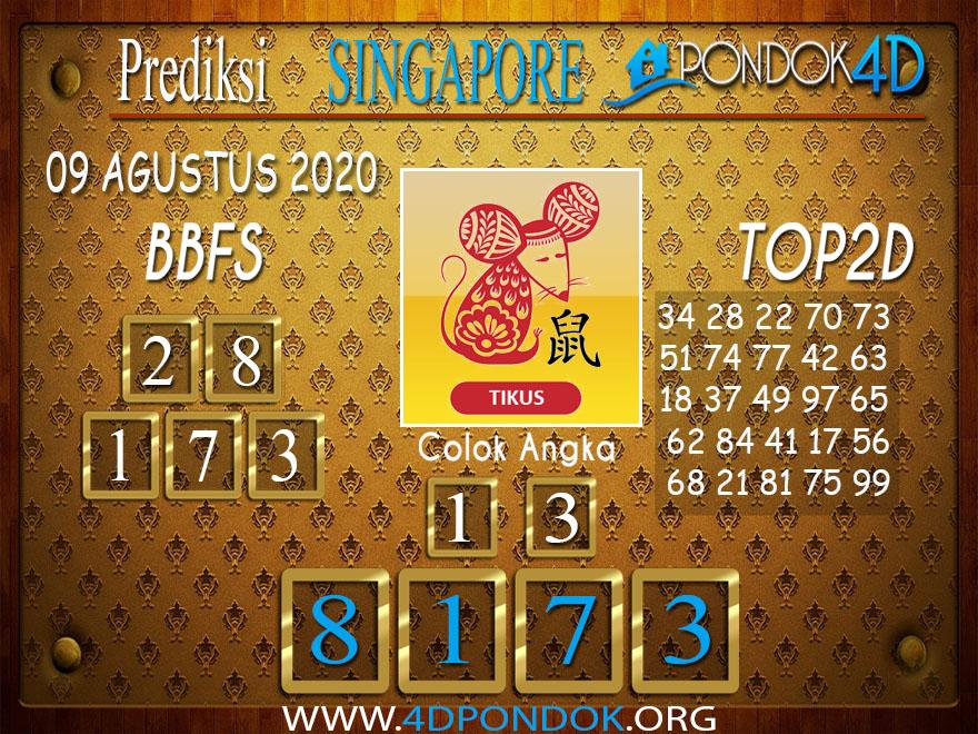 Prediksi Togel SINGAPORE PONDOK4D 09 AGUSTUS 2020