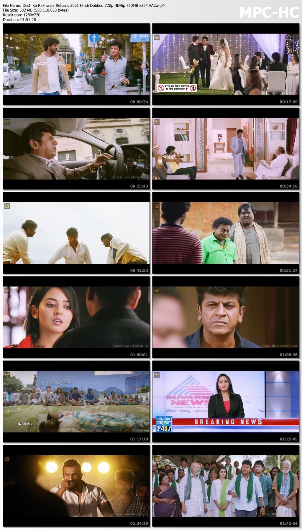 Desh Ka Rakhwala Returns 2021 Hindi Dubbed 720p HDRip 750MB x264 AAC