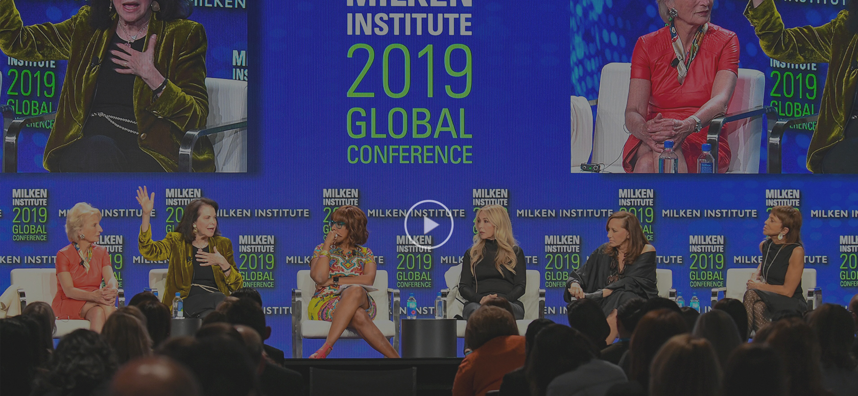 Anastasia Soare speaking at Milken Institute 2019 Global Conference- Coming of Age: Women Rise to the Top