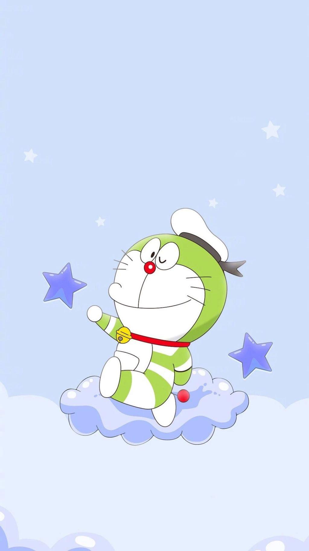 哆啦A梦壁纸:可爱哆啦A梦蓝胖子手机壁纸插图39