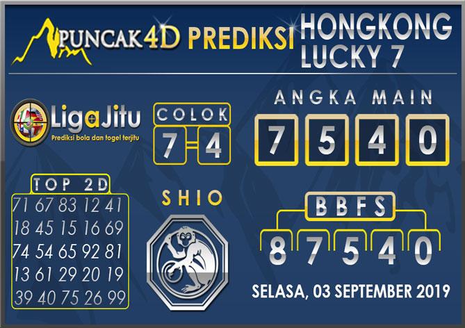 PREDIKSI TOGEL HONGKONG LUCKY7 PUNCAK4D 03 SEPTEMBER 2019
