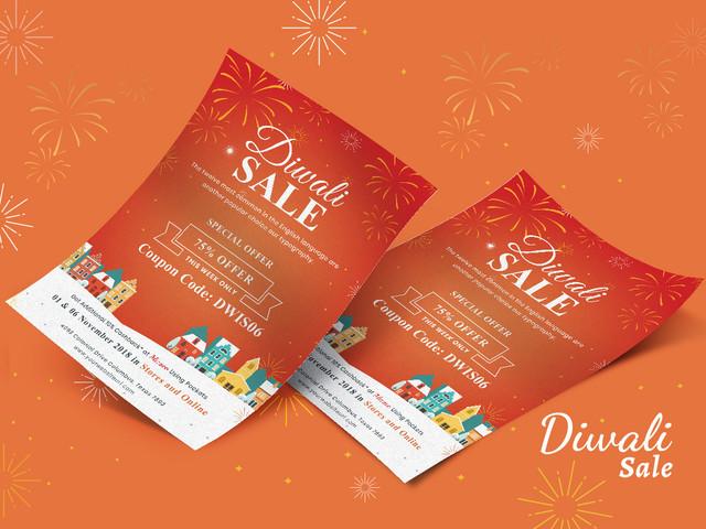 Diwali Sale Offer Flyer Template