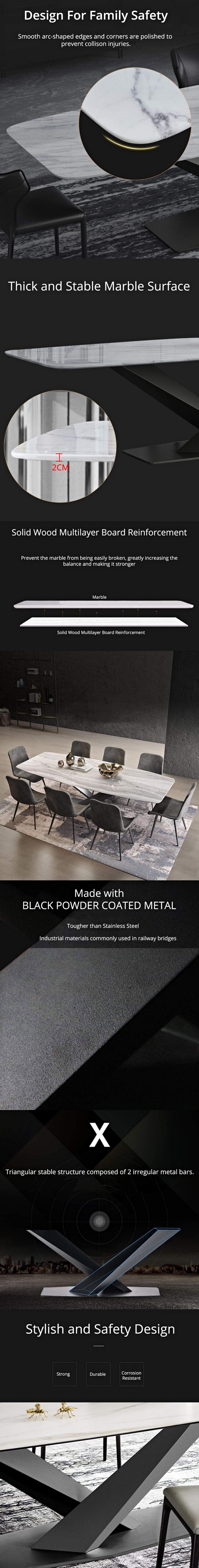 Rectangular-V-Base-Dining-Table-Item-Description-2
