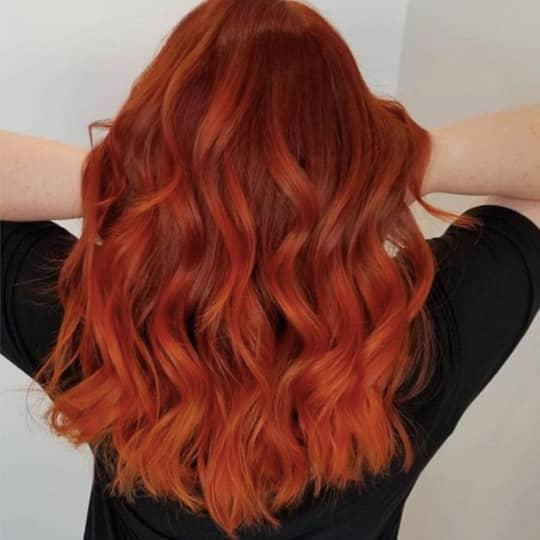 blood orange -hair-color