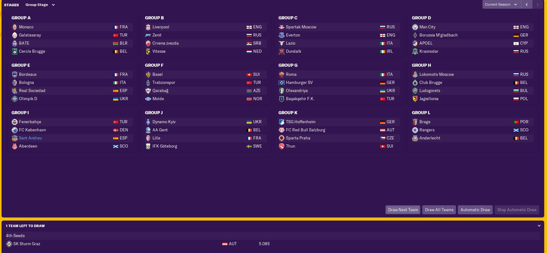 pre-season-EL-draw